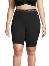 Champion Women's Plus Size Authentic Logo Bike Short