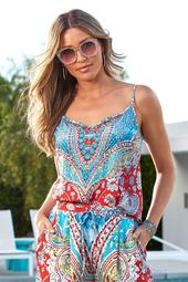 Paisley Embellished Tank Top