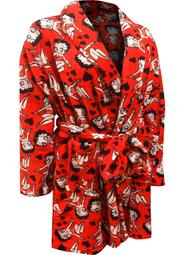 Betty Boop Women's Betty Boop Red Plus Size Super Soft Plush Robe