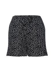 **DP Curve Black Spot Print Shorts