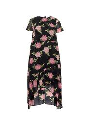 **DP Curve Pink and Black Maxi Dress