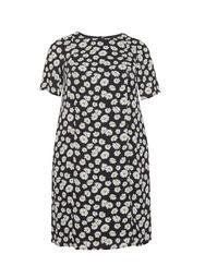 **Billie & Blossom Curve Black 'Diays' Crepe Shift Dress