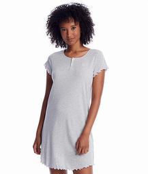 Heather Striped Knit Sleep Shirt