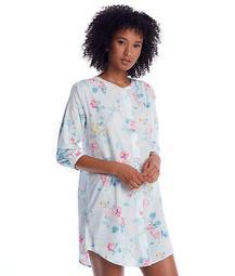 Floral Print Woven Sleep Shirt