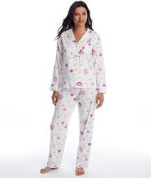 Ivory Floral Knit Pajama Set