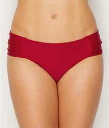 Anya Solid Gathered Bikini Bottom