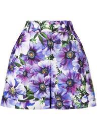 anemone-print tailored shorts