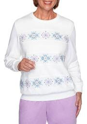 Plus Size Long Sleeve Spliced Biadere Top