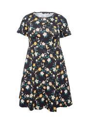 **DP Curve Multi Colour Daisy Print T-Shirt Dress