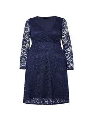 **DP Curve Navy Lace Dress