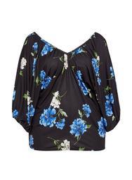 **DP Curve Multi Colour Floral Print Batwing Top