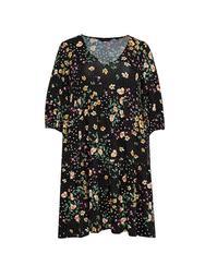**DP Curve Floral Print Smock Dress