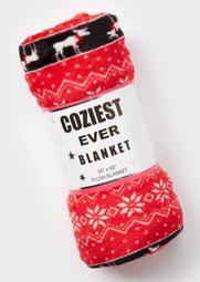 Red Moose Faire Isle Plush Blanket