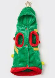 Christmas Tree Plush Pet Onesie