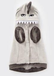 Gray Shark Plush Pet Onesie