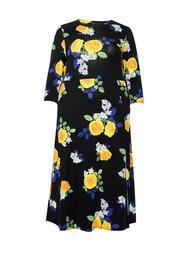 **DP Curve Multi Colour Floral Print Midi Skater Dress