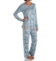 Ellen Tracy Sweater Knit PJ Set with Matching Headband 8622971