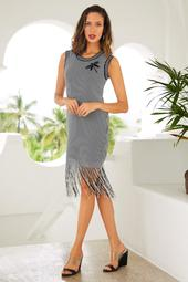 Patch Fringe Sport Dress