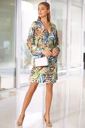 Colorful Leaf Print Dress