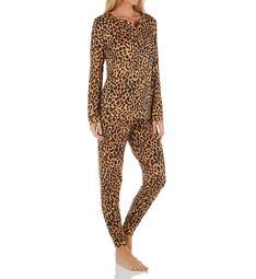 Lauren Ralph Lauren Sleepwear Brushed Cloud Jersey Jogger PJ Set LN72071