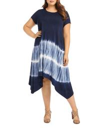 Tie-Dyed Handkerchief-Hem Dress