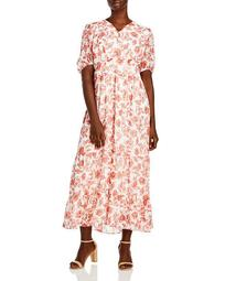 Floral Print Tiered Dress - 100% Exclusive