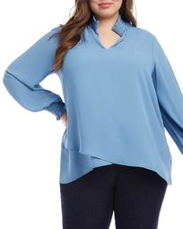 Smocked Crossover Top