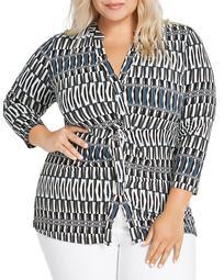 Plus Size Batik Striped Top