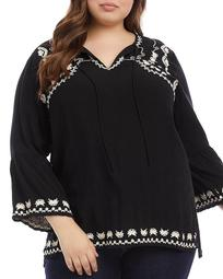 Embroidered Side Slit Tunic