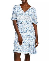 Printed Tiered Hem Dress - 100% Exclusive