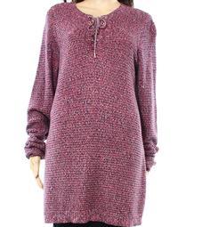Charter Club NEW Pink Womens Size 0X Plus Lace Scoop Neck Sweater