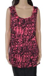 Womens Tank Top Combo Plus Printed Stretch Scoop-Neck 1X