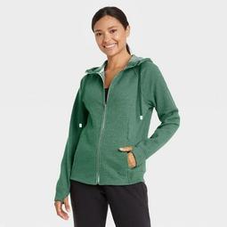 Women's Cotton Fleece Zip Front Sweatshirt - All in Motion™