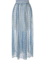 high-waist arabesque print skirt