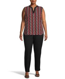Plus Size Broadway Lights Printed Top