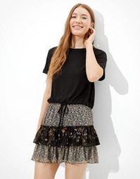 AE Chiffon Tiered Ruffled Mini Skirt