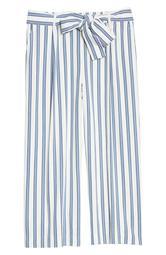 Stripe Tie Waist Wide Leg Pants