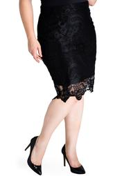 Emily Lace Pencil Skirt