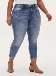 High Rise Boyfriend Straight Jean - Vintage Stretch Light Wash