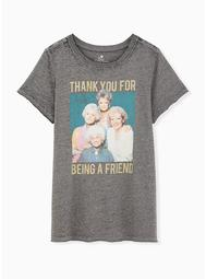 Golden Girls Burnout Grey Classic Fit Tee