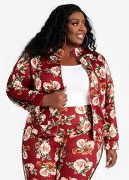 Floral Scuba Athleisure Jacket