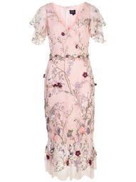 3D floral embroidered dress