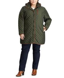 Plus-Size Quilted Hooded Jacket, Created for Macy's
