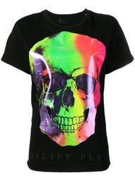 multicoloured skull print T-shirt