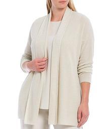 Plus Size Organic Linen Cotton Sweater Cardigan
