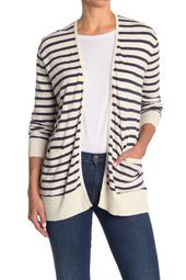 Striped Lightweight Pocket Cardigan