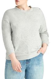 Marina Snap Button Sleeve Sweatshirt