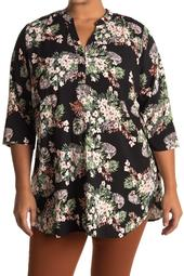 V-Neck Floral Printed Tunic