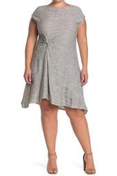 Side Knot Short/Midi Dress