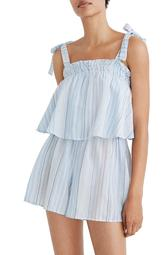 Tie-Strap Overlay Cover-Up Romper